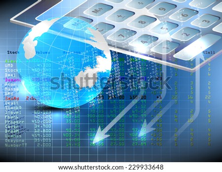 Stock exchange analysis,business concepts vector background