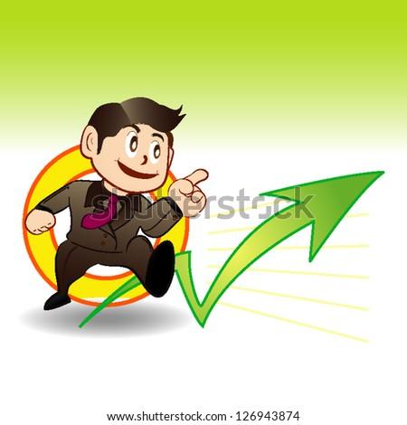 stock exchange man - stock vector