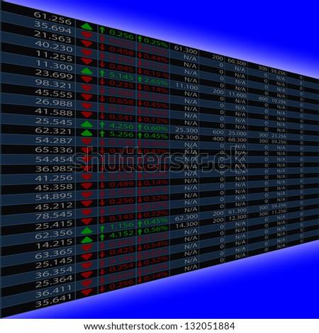 stock exchange quotas - stock vector