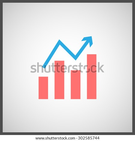 Stock, graph icon. Vector illustration - stock vector