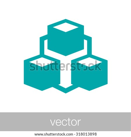 Stock Illustration - concept network icon - social network icon - stock vector