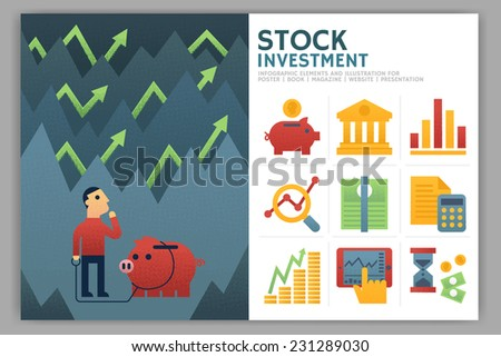 Stock Investment Infographic Elements - stock vector