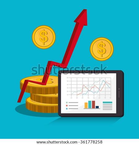 Stock market and economy graphic design - stock vector