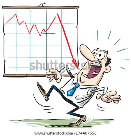 Stock Market Crash - stock vector