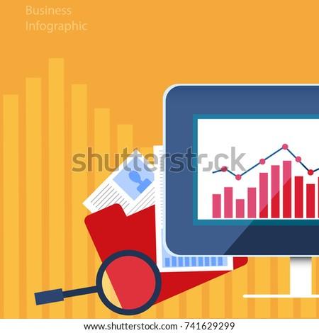 stock market financial market graphic design vector stock vector