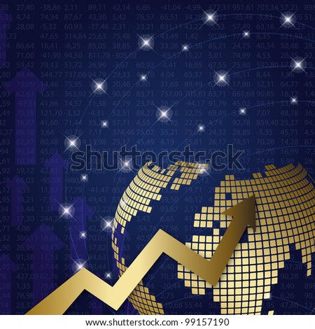 stock market graph - stock vector