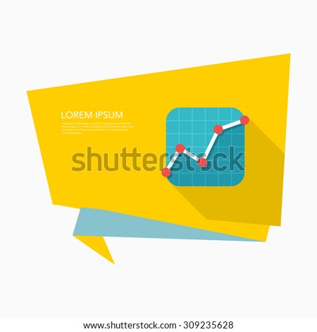 Stock market icon, vector illustration. Flat design style with long shadow,eps10 - stock vector