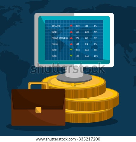 Stock market with statistics graphic design, vector illustration eps10 - stock vector