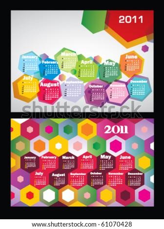 Stock vector calendars 2011 - stock vector
