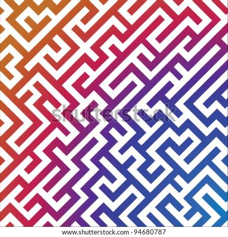 Stock vector colorful maze ornament - stock vector