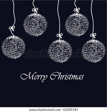 Stock vector decorative christmas card with gentle sparkling decoration ball