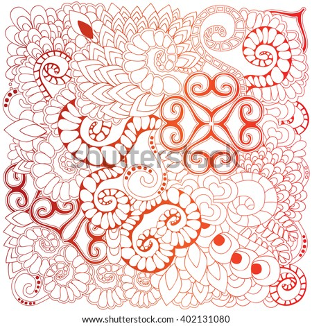 stock vector  doodle  floral pattern. orient. abstract background
