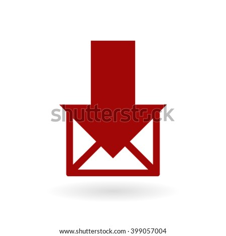 stock vector email or sms icon mobile mail sign symbol - stock vector