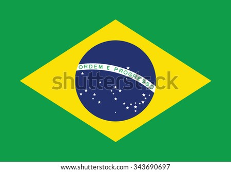 Stock Vector Flag of Brazil - Proper Dimensions