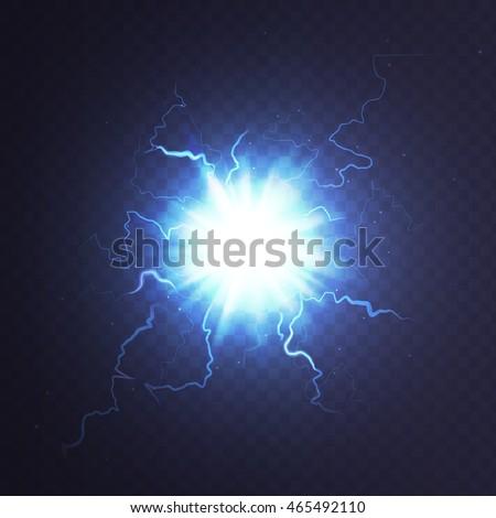 stock vector illustration ball lightning transparentのベクター画像