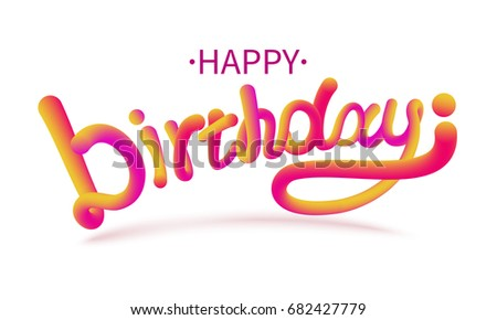 happy birthday letter style stock vector illustration happy birthday font stock vector 8820