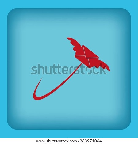 Stock Vector Illustration:mail icon
