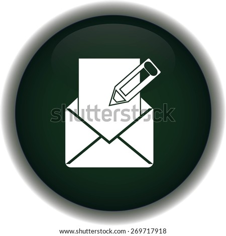 Stock Vector Illustration:mail icon - stock vector