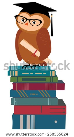 Cartoon Wise Owl Stock Images Royalty Free Images