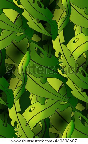 Stock Vector Illustration:seamless pattern with seaweed