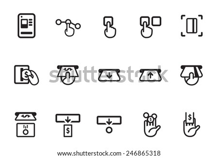 Stock Vector Illustration: Ticket vending machine - stock vector