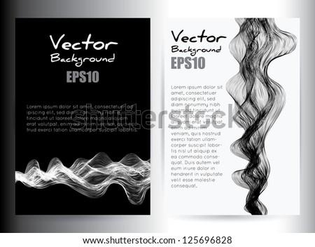 Stock Vector Illustration: vector smoke effect hand drown - stock vector