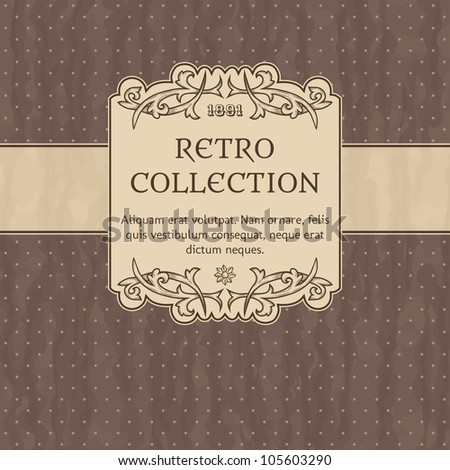 Stock Vector Illustration: Vintage background with polka-dot - stock vector