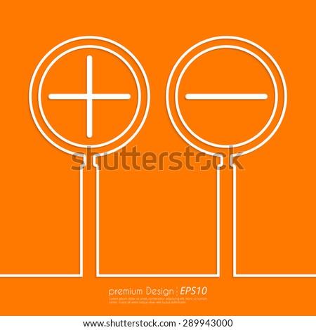 Stock Vector Linear icon increase and decrease . Flat design. - stock vector