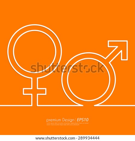 Stock Vector Linear icon male and female. Flat design. - stock vector