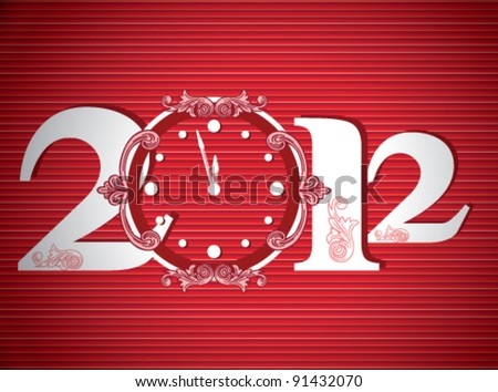 Stock vector new year card - stock vector