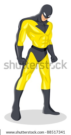 Stock vector of a superhero in a mask - stock vector