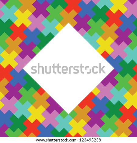 Stock vector pattern with place for text - stock vector