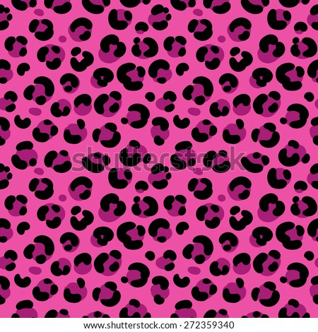 stock vector seamless Wallpaper with a leopard skin on a pink background with spots - stock vector