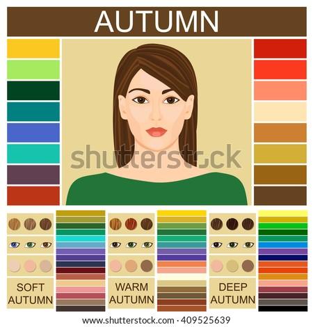 Stock Vector Seasonal Color Analysis Palette Stock Vector