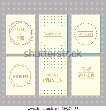 stock vector set of brochures. Vector design templates. Use for printed materials, signs, elements, web sites, cards
