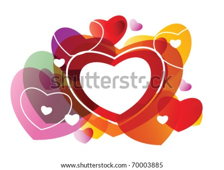 Stock vector valentine day card - stock vector