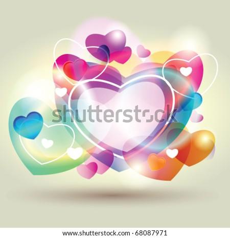 Stock vector valentine heart - stock vector
