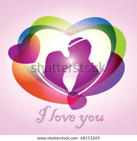 Stock vector valentines day card - stock vector