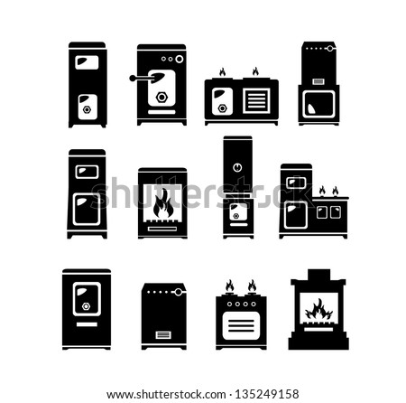 Stolve icons (set of 12 quality iconss) - stock vector