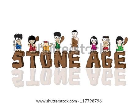 Stone Age Cartoon Vector Stock Vector 117798796 - Shutterstock