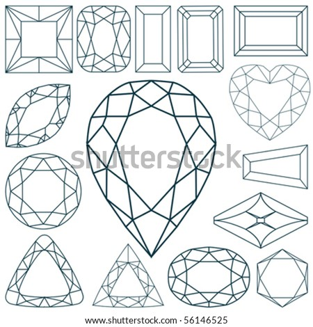 stone shapes against white background, abstract vector art illustration - stock vector