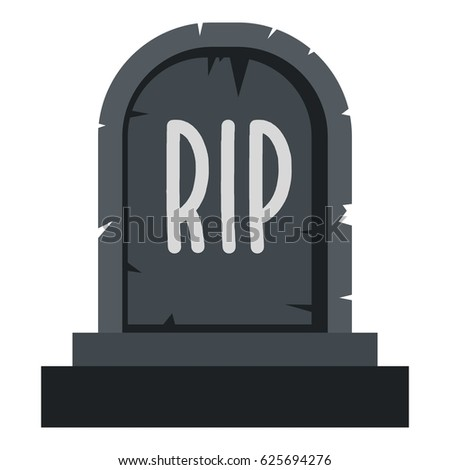 stone tombstone rip icon flat isolated stock vector 625694276 rh shutterstock com tombstone logo vector tombstone vector images