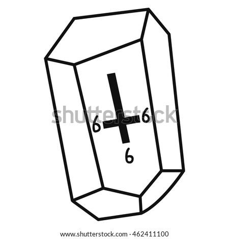 Stone Satanic Cross Vector Illustration Stock Photo Photo Vector