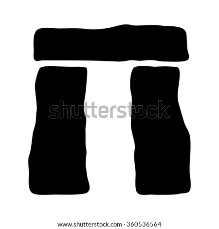Stonehenge burial site in Wiltshire flat icon for apps and websites - stock vector
