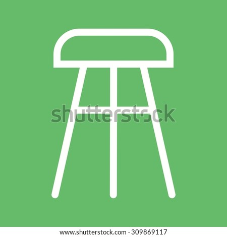 Stool, chair, wooden icon vector image.Can also be used for furniture design. Suitable for mobile apps, web apps and print media.