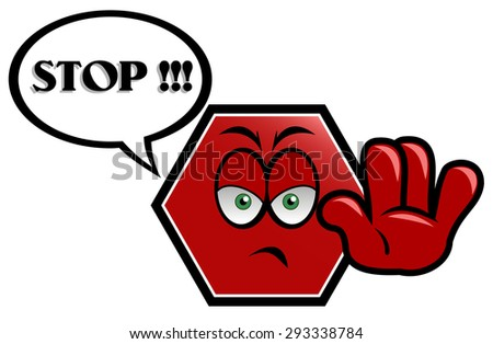 Stop, attention, danger, caution sign, icon - stock vector