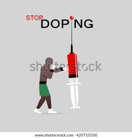 Stop doping icon - stock vector