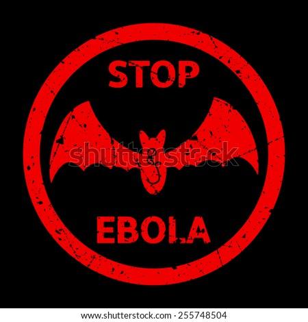 Stop Ebola Warning Sign - stock vector