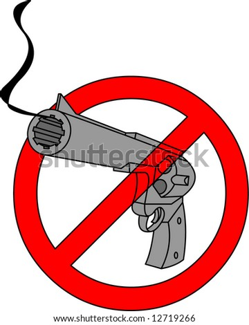stop guns - stock vector