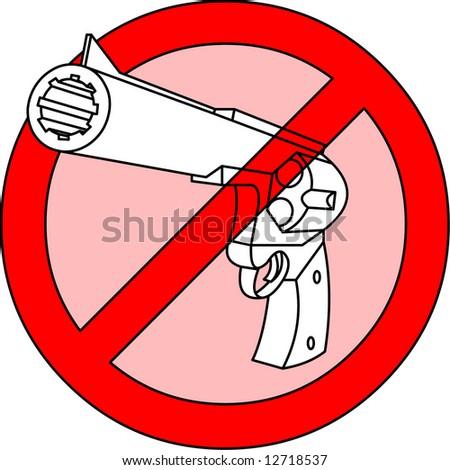 stop guns, prohibition vector for guns - stock vector